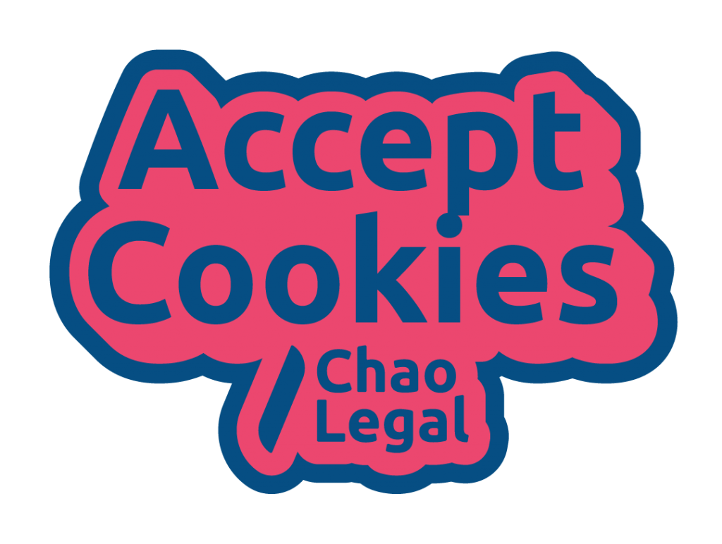 Accept cookies sticker with chao legal branding