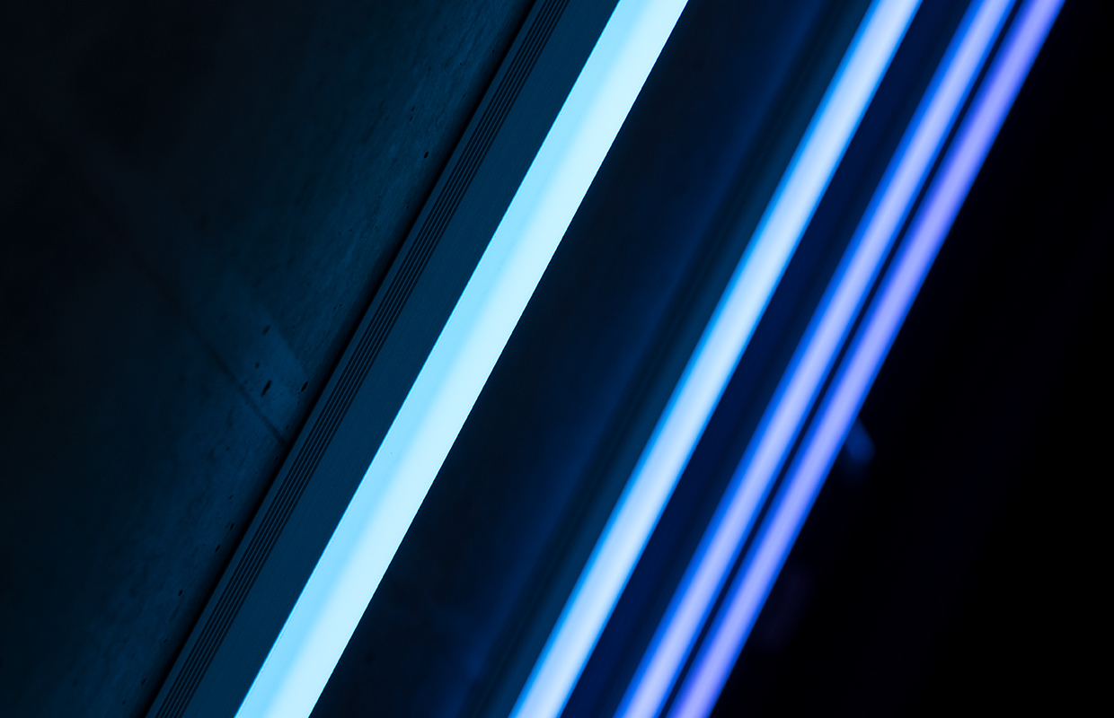 Picture of blue lightbeams
