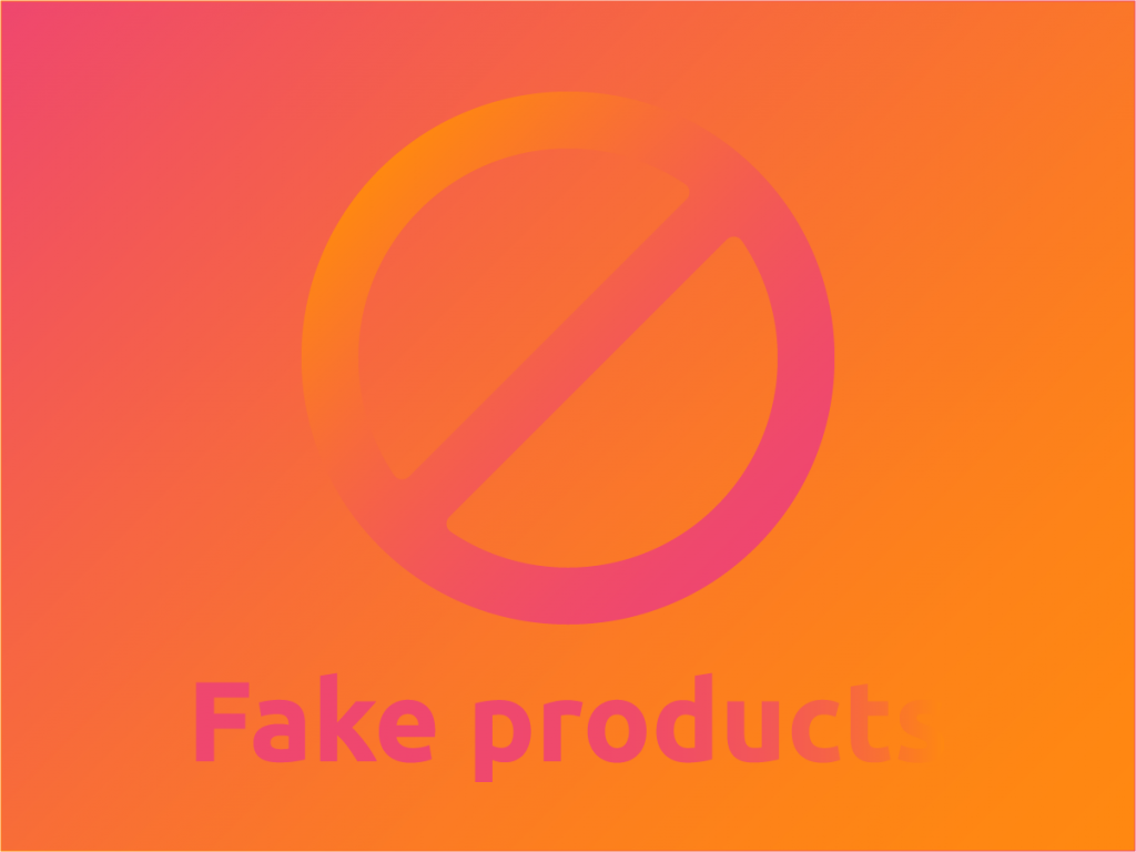 Fake products icon