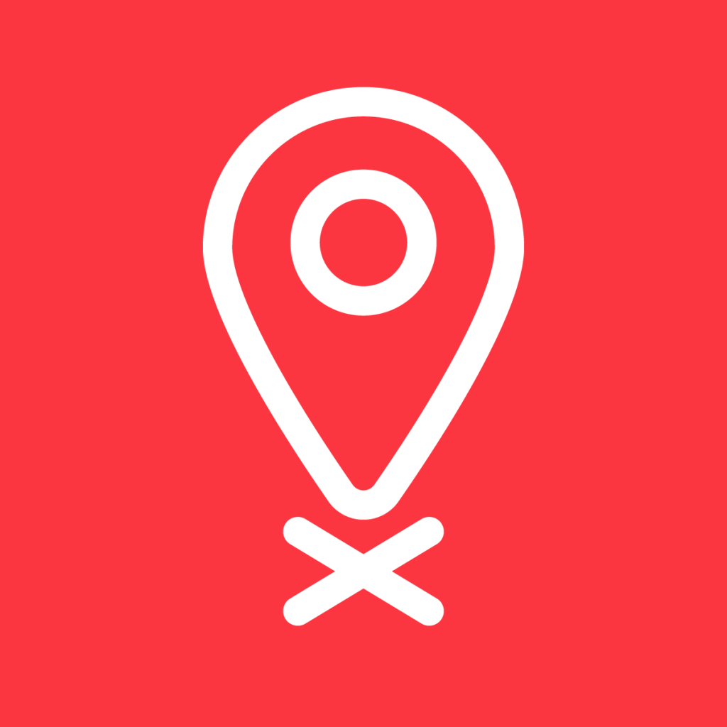 Geo-blocking icon red